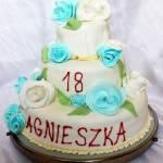 Tort  na 18 urodziny (trzypiętrowy bez stelaża)