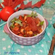 Fasolka z chorizo i salami z dzika