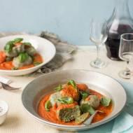Gnudi (kluski) szpinakowe z sosem pomidorowo-maślanym