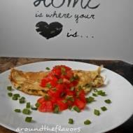 Omlet z serkiem i szczypiorkiem
