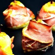 Zapiekane gruszki z serem gorgonzola