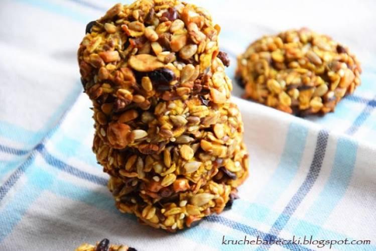 Zdrowe ciasteczka z ziarnami