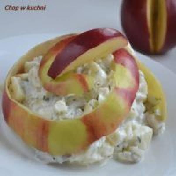 Harynki ze jabkym (Sałatka śledziowa z jabłkiem)