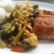 ryba z warzywami po chińsku