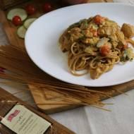 Spaghetti z Cukinią i Kurczakiem