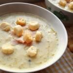 Zupa porowo-serowa bez mięsa