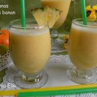 Koktajl ananas pomarańcza banan