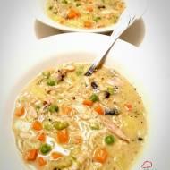Kremowa zupa warzywna z kurczakiem