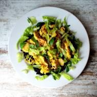 Kurczak w porach i sosie curry