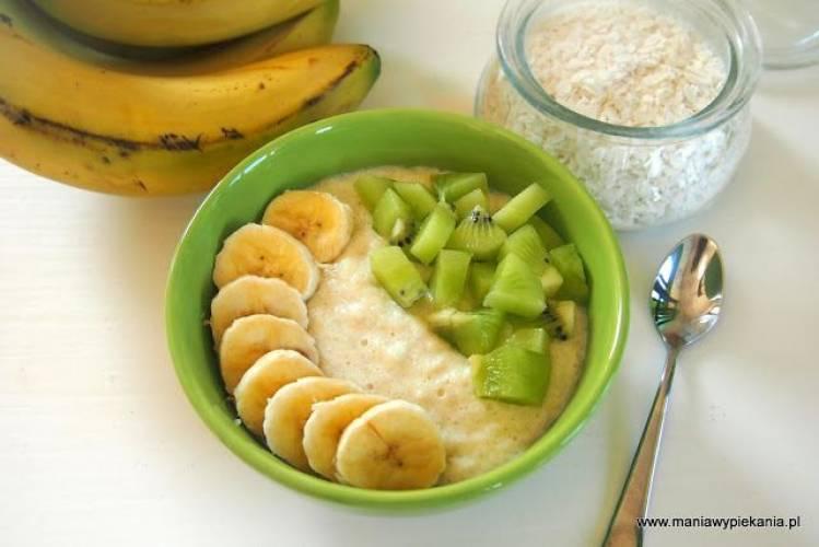 Płatki ryżowe z bananem (bez cukru i glutenu)