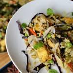 Orientalne risotto z kurczakiem i chrupiącą czerwoną kapustą