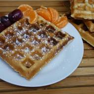 Gofry pełnoziarniste- idealne na śniadanie