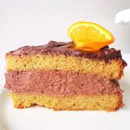 Tort pomarańczowy z kremem z gorzkiej i mlecznej czekolady (Torta all'arancia con crema di cioccolato fondente e crema di ciocco