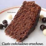 Ciasto czekoladowo-orzechowe.