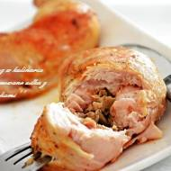 Udka z kurczaka nadziewane pieczarkami
