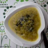 Zupa selerowa z camembertem i masłem estragonowym
