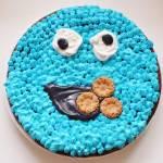 Czekoladowe ciasto migdałowe Cookie Monster | bez glutenu / mąki / białego cukru |