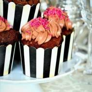 Babeczki czekoladowe z kremem czekoladowym