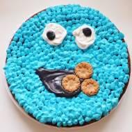 Czekoladowe ciasto migdałowe Cookie Monster   bez glutenu / mąki / białego cukru  