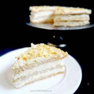 Tort bezowy Raffaello | Bezowy tort migdałowo-kokosowy
