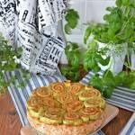 Torcik serowo-warzywny