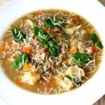 Zupa z soczewicy z ziemniakami i kalafiorem