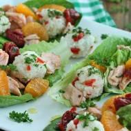 Łódeczki z ryżem i łososiem