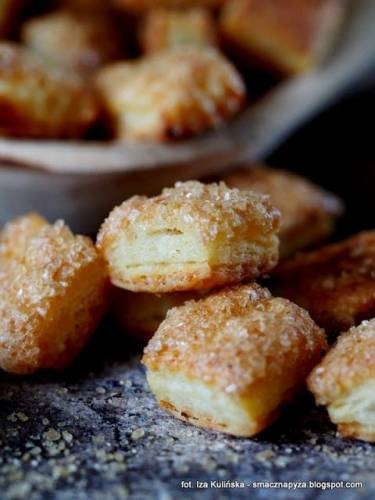 Ciasteczka twarogowe z cukrem