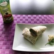 Lunch – tortilla z serkiem śmietankowym i szynką