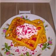 Marchewkowo-pomarańczowe gofry (na soku)