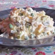 Sałatka z jajkami, porem i groszkiem