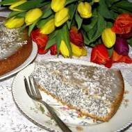 na białkach kokosowo-makowe ciasto...