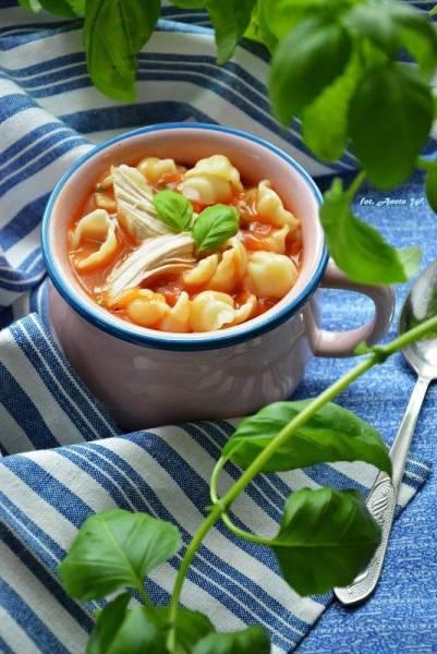 Zupa pomidorowa na piersi kurczaka
