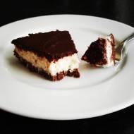 Fit ciasto kokosowe z polewą czekoladową