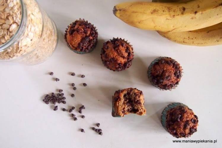 Babeczki bananowo-czekoladowe bez glutenu i cukru