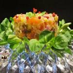 Sałatka z łososia wędzonego i roszponki