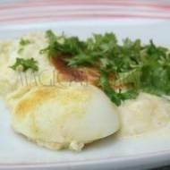 Jaja zapiekane w sosie mlecznym