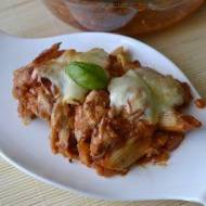 Zapiekanka makaronowa z kurczakiem i mozzarellą