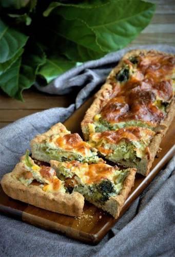 Tarta z warzywami i kozim serem, a właściwie Quiche
