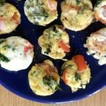 Mini muffiny z jarmużem