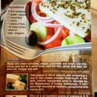 Grecka wiejska sałatka z serem feta i oliwą z oliwek wg Aleex