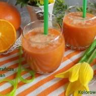 Koktajl gerjpfrut pomarańcza marchew banan