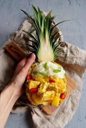 Kurczak w sosie curry z ananasem! Mniammm!