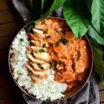Curry warzywne z kurczakiem na parze i cytrynowym ryżem
