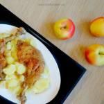 Duszone udka kurczaka z jabłkami