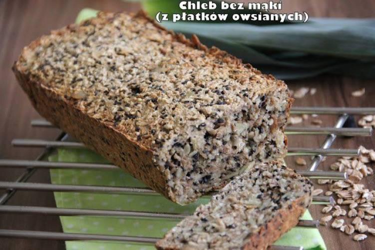 Chleb bez mąki (z płatkami owsianymi)