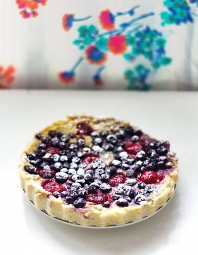 Ciasto z kaszy jaglanej z owocami
