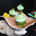 Muffiny szpinakowe z kremem