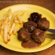 Köttbullar - kuleczki z mielonego mięsa, fastfood z Ikea