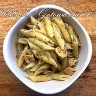 Makaron po włosku z kurczakiem i szynką